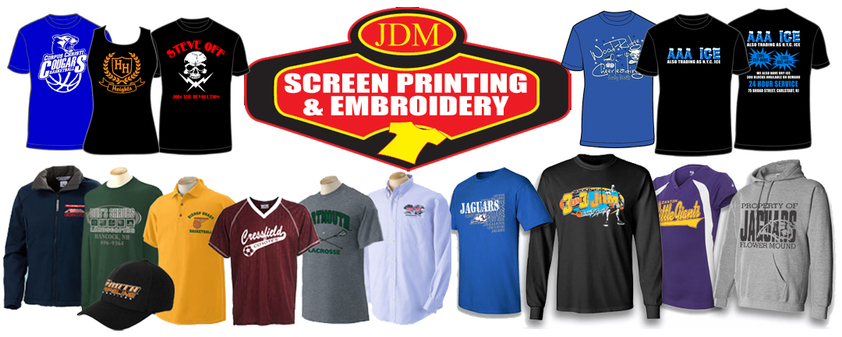 Saddle Brook screen printing embroidery